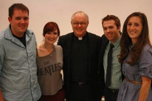 Student leaders of CUAllies with Fr. Peter Daly
