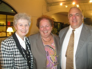 Ambassador Mari Carmen Aponte (center) with Sister Jeannine Gramick and Francis DeBernardo.