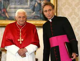 Pope Benedict XVI and Msgr. Georg Ganswein