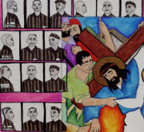 Station Three: Jesus Falls the First Time -- The Nazi's imprison homosexuals in concentration camps.