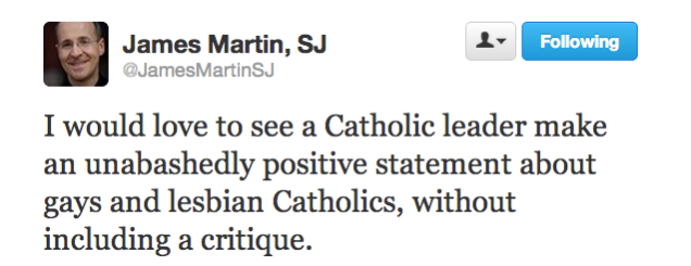 James Martin Tweet - May 20, 2013