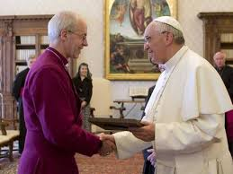 Archbishop of Canterbury Justin Welby and Pope Francis