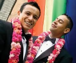 Hispanic gay couple