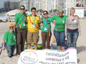World Youth Day pilgrims on Copacabana beach.
