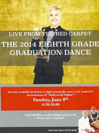 Flyer starring Ellen DeGeneres that is causing controversy at St. Andrew Elementary School