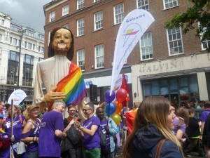London's LGBT Catholics march in Pride.