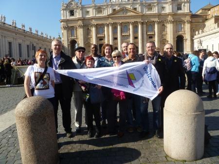 LGBT Catholics Westminster  Pilgrims in St. Peter's Square