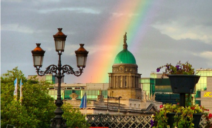 Dublin's rainbow as referendum results are announced