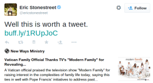 Tweet from @EricStonestreet